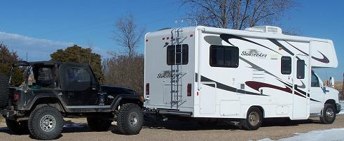 RV Flat Towing Jeep