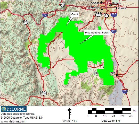 Pike National Forest Map | compressportnederland
