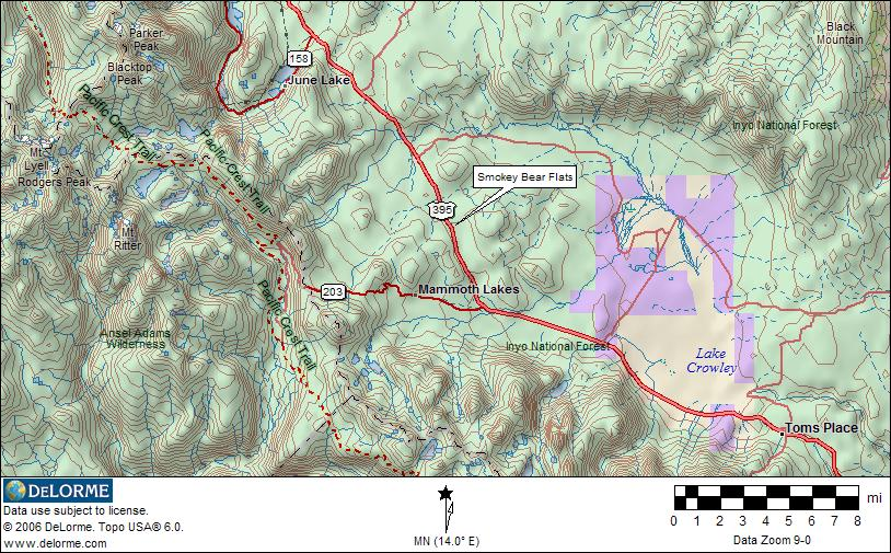 Mammoth Lakes Public Lands Map