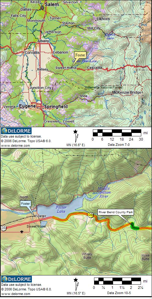 Oregon RV Camping And Campgrounds RV Camping - Map of oregon rv parks