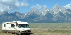 RV Camping    In The Teton Mountains, Wyoming