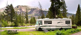Yellowstone Pebble Creek Campground